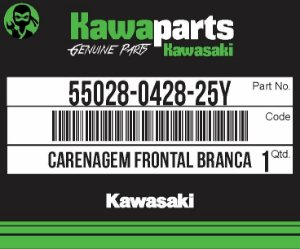 CARENAGEM FRONTAL BRANCA Z800 - 55028-0428-25Y