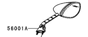 ESPELHO RETROVISOR DIREITO NINJA ZX-14R / 2013 a 2014 - 56001-0234