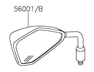 ESPELHO RETROVISOR ESQ - 56001-0272