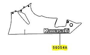 ADESIVO CARENAGEM LATER KAWASAKI INF - 56054-0551