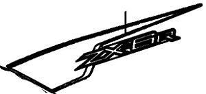 ADESIVO CARENAGEM ZX-6R 2012 ESQUERDO - 56069-1656