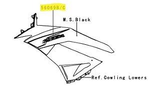 ADESIVO CARENAGEM SUPERIOR ZX-6R - 56069-1657