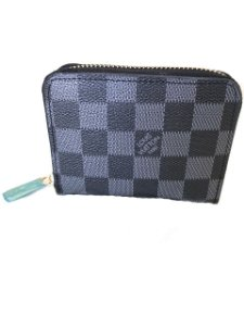 CARTEIRA ZIP COIN PURSE LOUIS VUITTON CANVAS DAMIER GRAPHITE