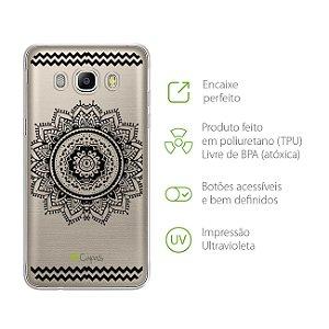 Capa para Galaxy J5 Metal - Mandala Preta
