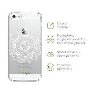 Capa Mandala Branca para Iphone 5