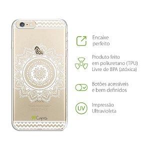 Capa para iPhone 6 e 6s - Mandala Branca