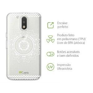 Capa para Moto G4 - Mandala Branca
