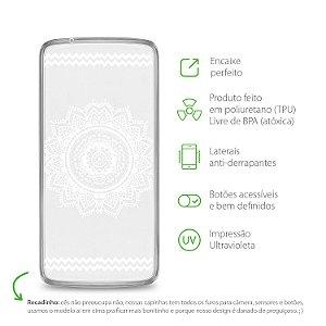 Capa Mandala Branca para Moto X Play