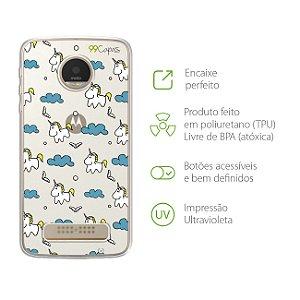 Capa para Moto Z Play - Unicórnio