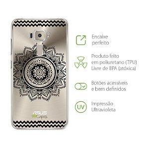 Capa para Zenfone 3 - 5.2 Polegadas - Mandala Preta