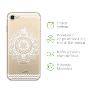 Capa Mandala Branca para Iphone 7