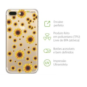 Capa Girassóis para Iphone 7 Plus