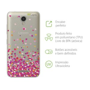 Capa para Lenovo Vibe B - Corações Rosa