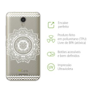 Capa Mandala Branca para Lenovo Vibe B