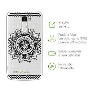 Capa Mandala Preta  para LG K10 2016