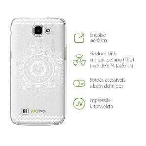 Capa Mandala Branca para LG K4