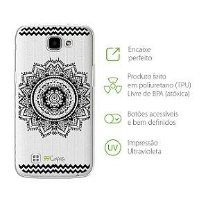 Capa Mandala Preta   para LG K4