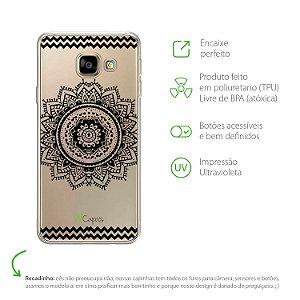 Capa para Galaxy A9/A9 Pro - Mandala Preta