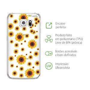 Capa Girassóis para Galaxy S6