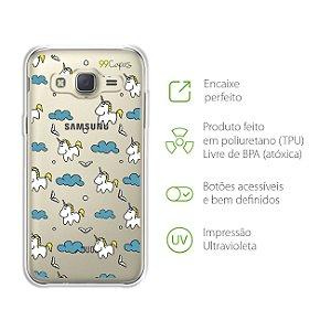 Capa para Galaxy J3 - Unicórnio