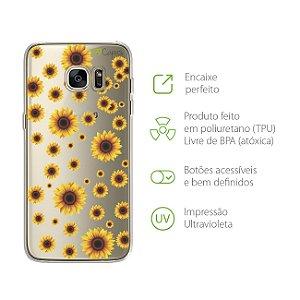 Capa Girassóis para Galaxy S7