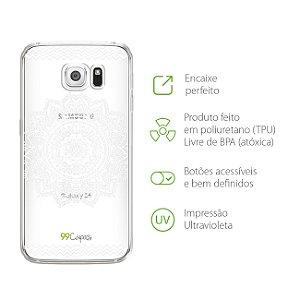 Capa Mandala Branca para Galaxy S6 Edge