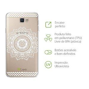 Capa para Galaxy J7 Prime - Mandala Branca
