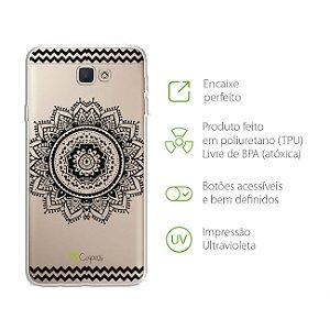 Capa para Galaxy J5 Prime - Mandala Preta
