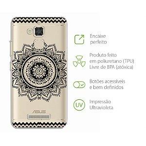 Capa Mandala Preta para Zenfone 3 Max - ZC520TL