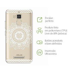 Capa para Zenfone 3 Max - 5.2 Polegadas - Mandala Branca