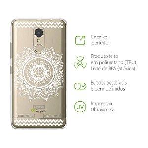 Capa Mandala Branca para Lenovo K6 Plus
