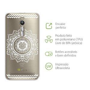 Capa para Asus Zenfone 2 - Mandala Branca
