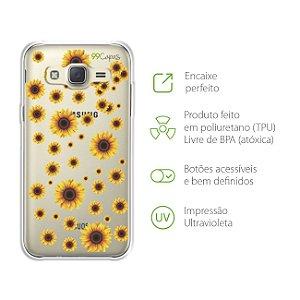 Capa Girassóis para Samsung Galaxy J2 Prime