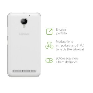 Capa Transparente para Lenovo Vibe C2