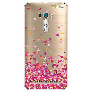 Capa Zenfone Laser - Corações Rosa