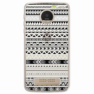 Capa para Moto Z Play - Maori Branca