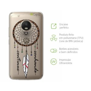 Capa para Moto G5 Plus - Continue Sonhando