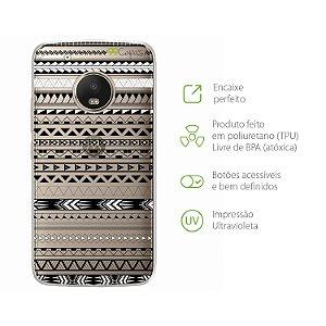Capa para Moto G5 Plus - Maori Branca
