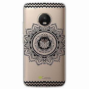 Capa para Moto G5 - Mandala Preta
