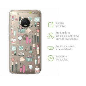 Capa para Moto G5 Plus - Make up