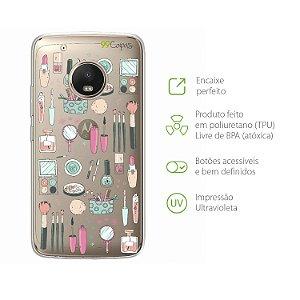 Capa para Moto G5 Plus - Make up