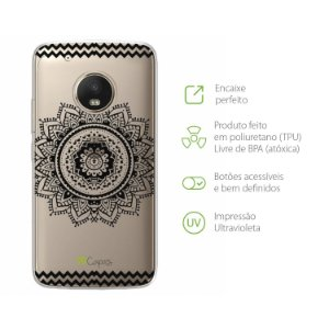 Capa Moto G5 Plus - Mandala Preta
