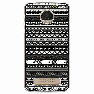 Capa para Moto Z Play - Maori Preta
