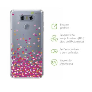 Capa para LG G6 - Corações