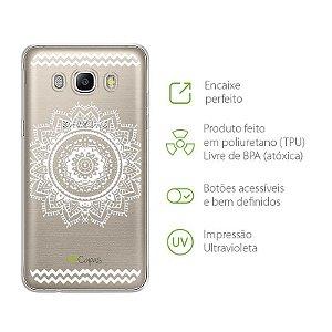 Capa para Samsung Galaxy J7 - Mandala Branca