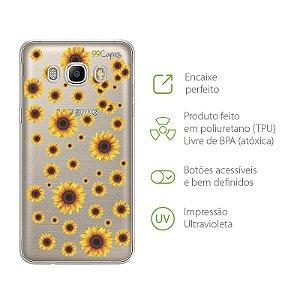 Capa para Samsung Galaxy J5 - Girassóis