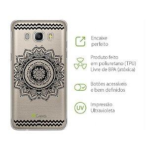 Capa para Samsung Galaxy J5 - Mandala Preta