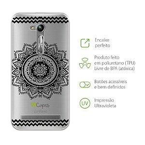 Capa para Asus Zenfone Live - Mandala Preta