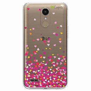 Capa para LG K10 Pro - Corações Rosa