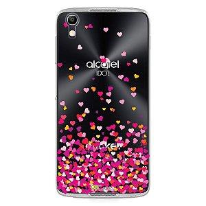 Capa para Alcatel Idol 4 - Corações